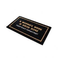 JVL Latex Backed Novelty Coir Mat - 33.5 x 60cm